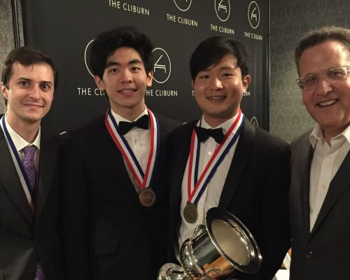 WQXR Elliott Forrest with Yekwon and Other Cliburn Winners