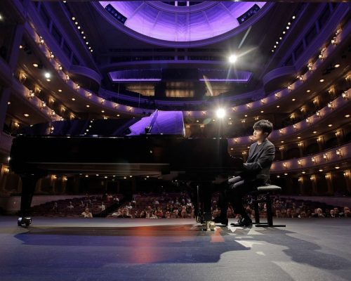 Yekwon Sunwoo in Bass Hall during Cliburn