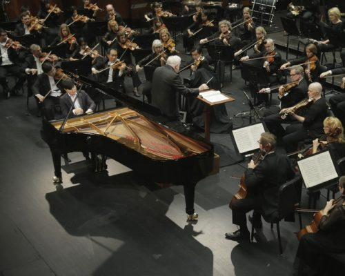 Yekwon Sunwoo with Orchestra at Cliburn Competition
